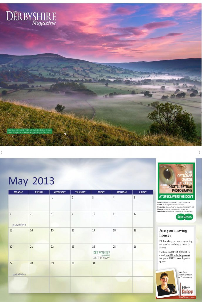 Derbyshire Magazine Calendar 2013 May