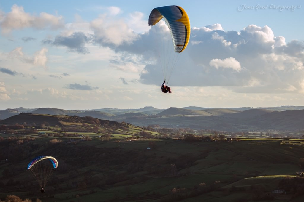 Paragliders in the Dove Valley - Peak District