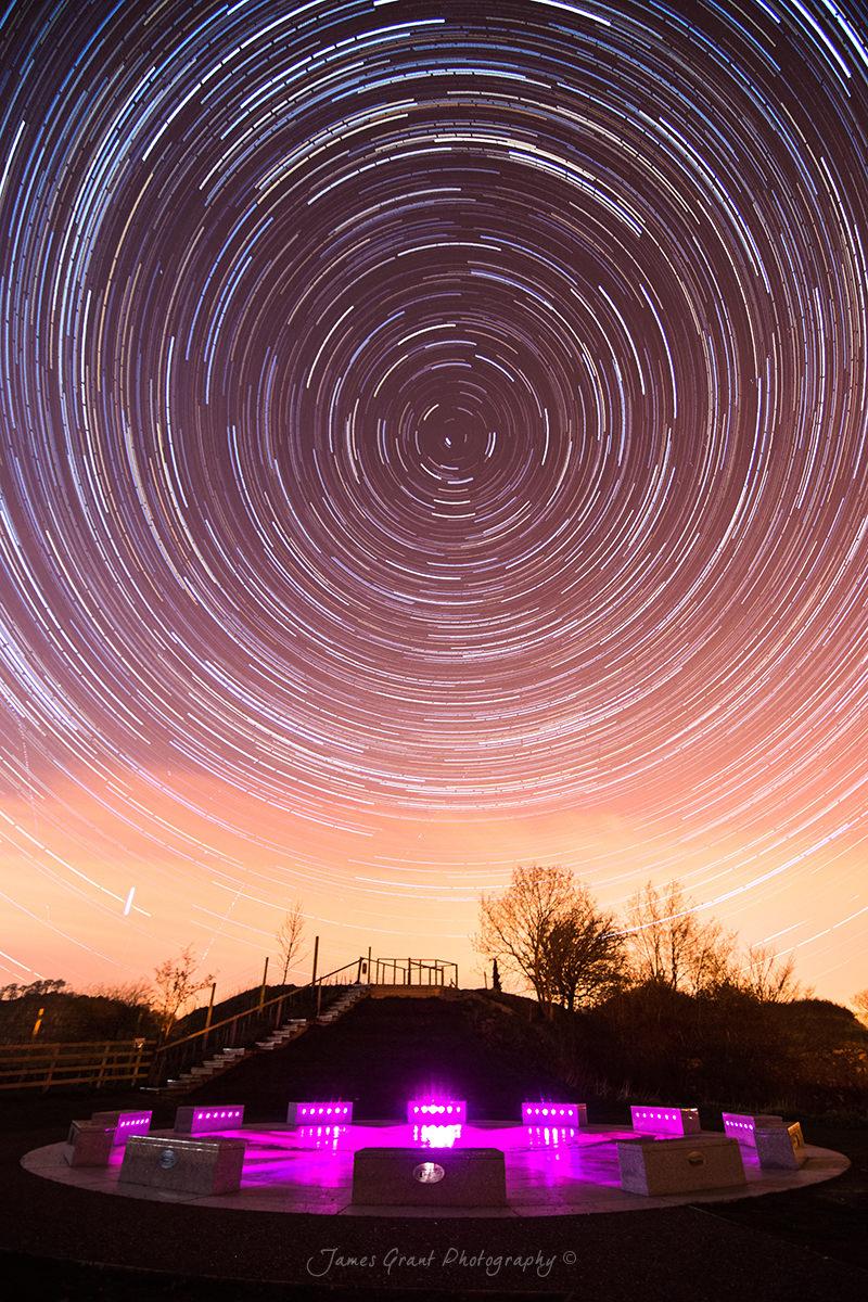 Wirksworth StarDisc Star Trails - Derbyshire