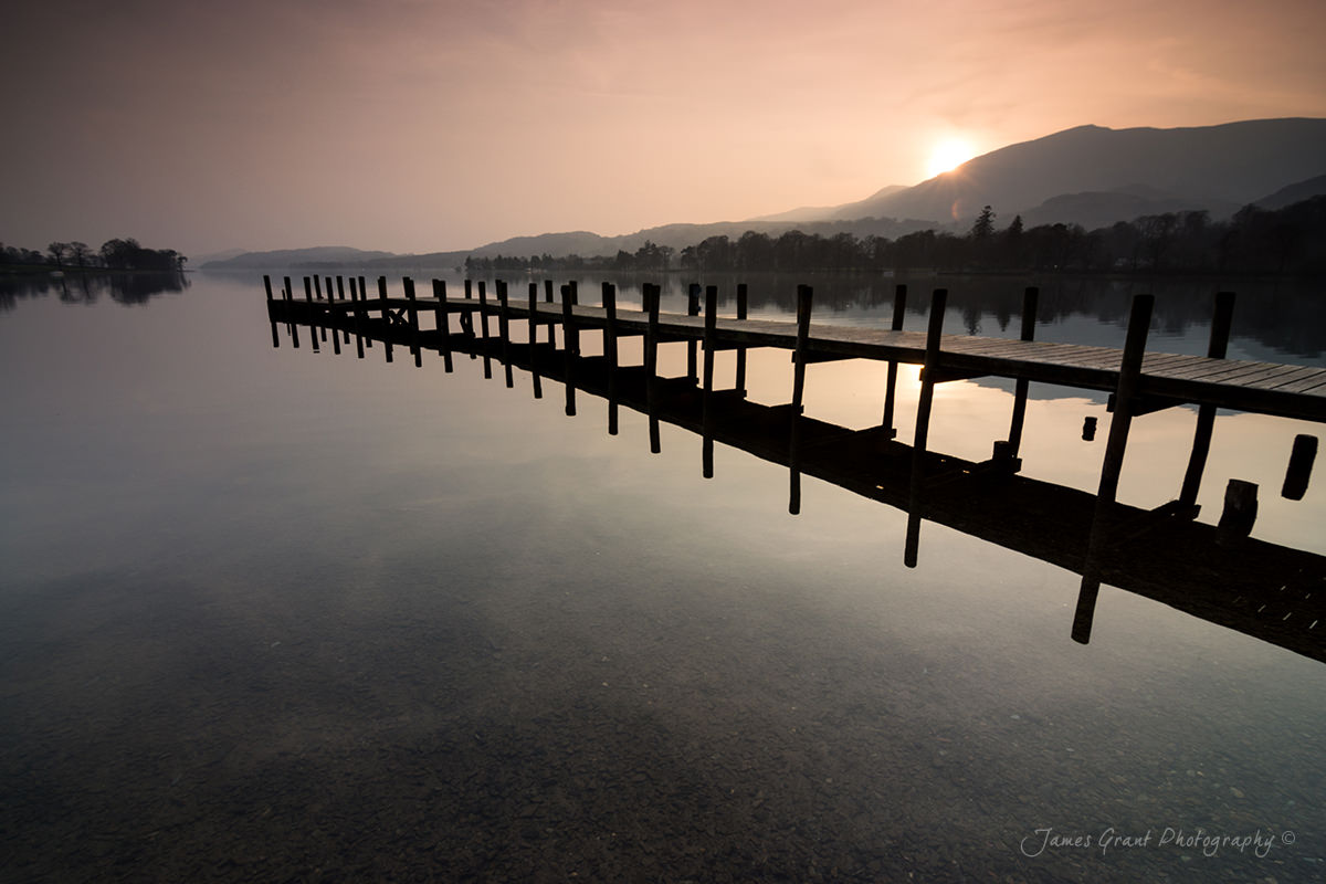 Coniston Jetty - Sunset over the Old Man - Lake District