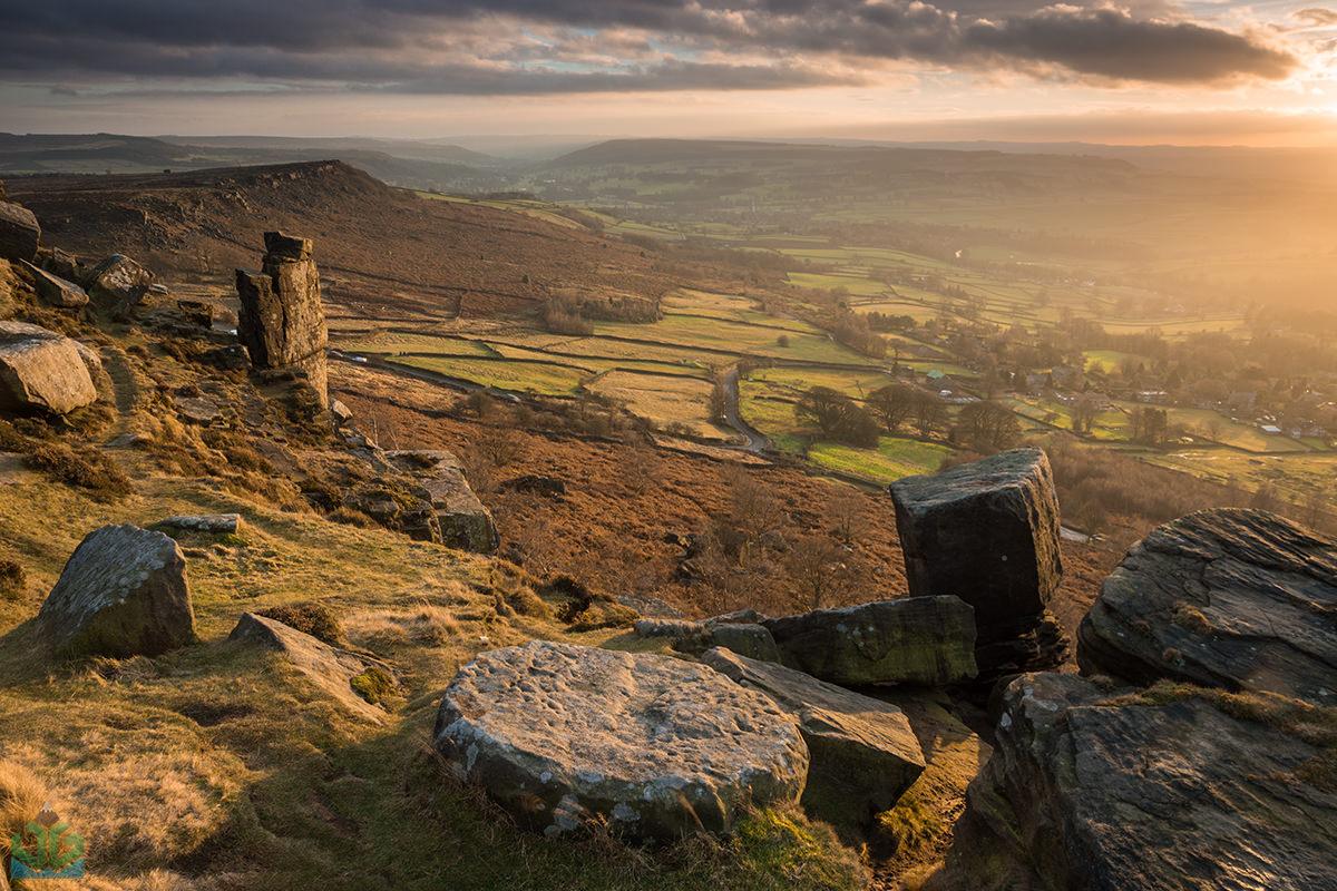 Curbar Pinnacle Sunset - Peak District Photography