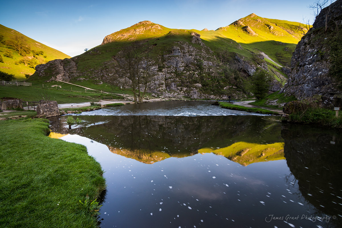 Thorpe Cloud Reflections - Dovedale -  Peak District Photography