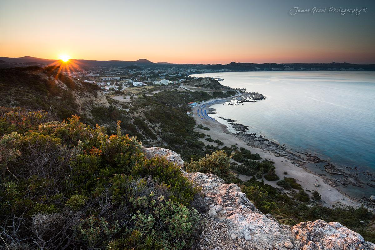 Faliraki Cliff Sunset - Rhodes - Greece