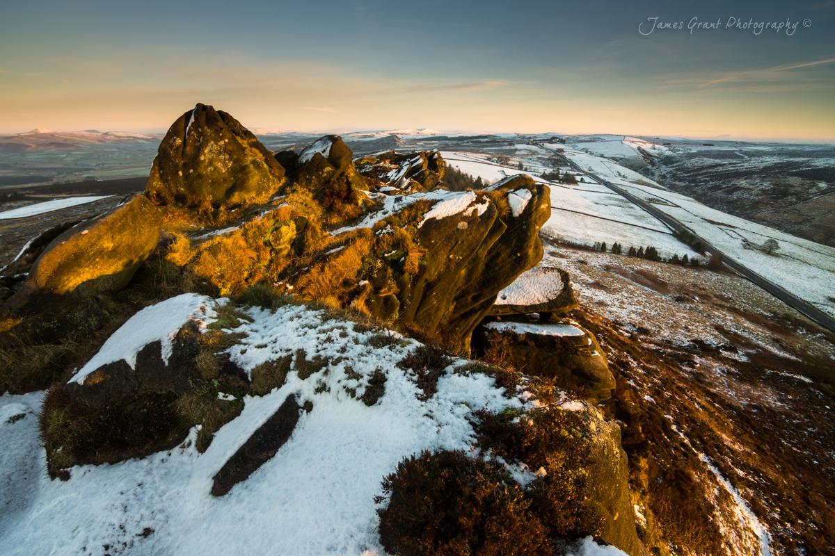 Ramshaw Rocks Winter Glow - Peak District Photography