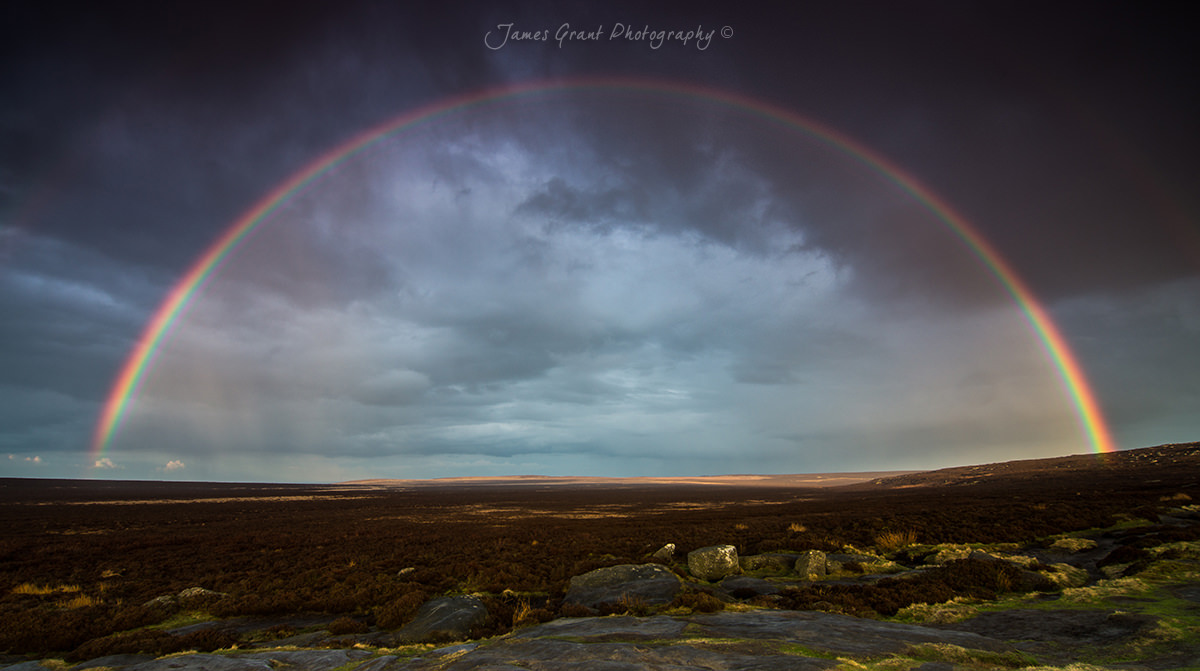 Stanage Rainbow - Peak District Photography