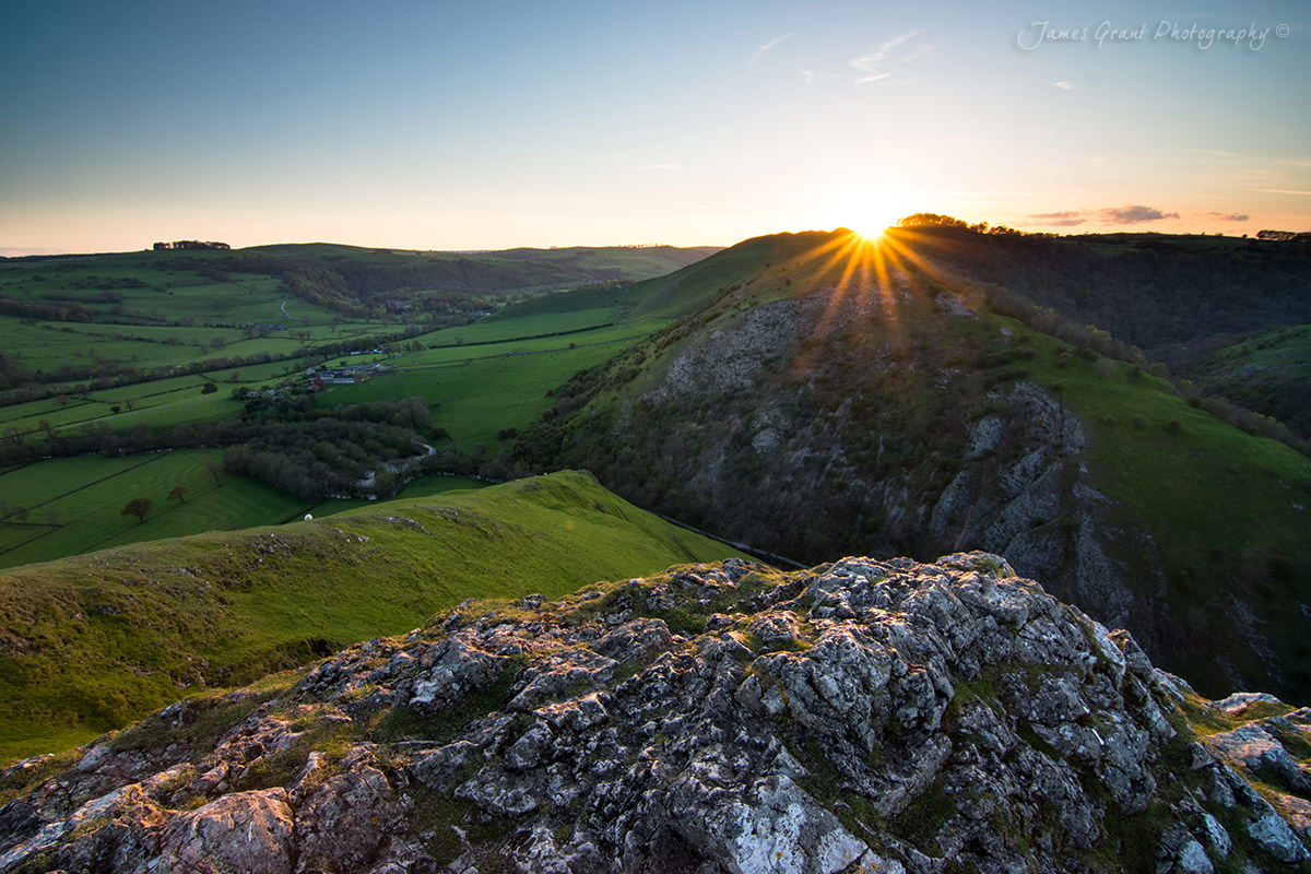 Thorpe Cloud Sunset - Dovedale - Peak District Photography