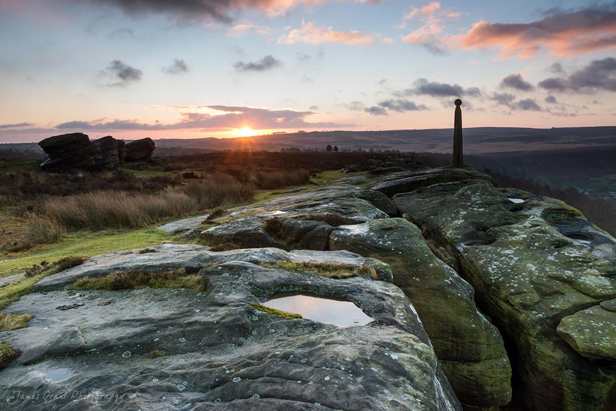 Birchen Edge With Three Ships Sunrise - Peak District Photography