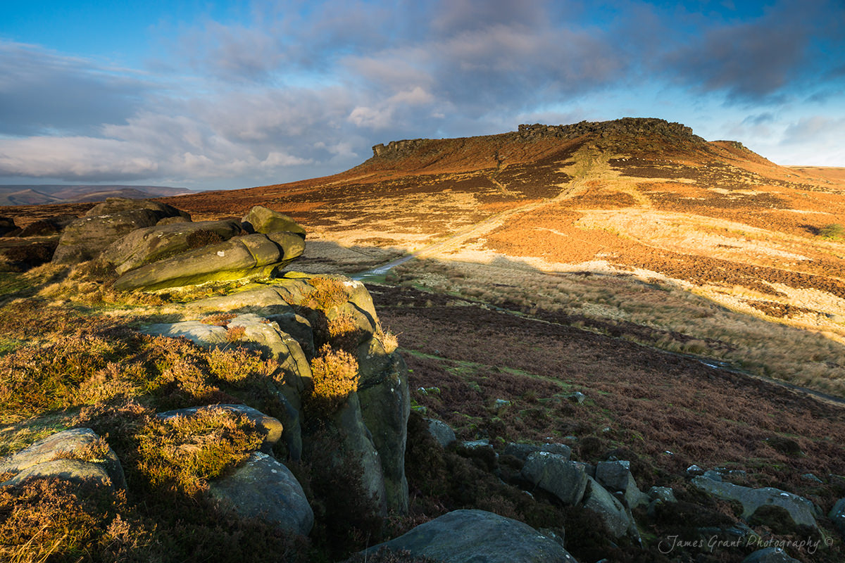 Higger In Light - Carl Wark Sunrise - Peak District Photograhy