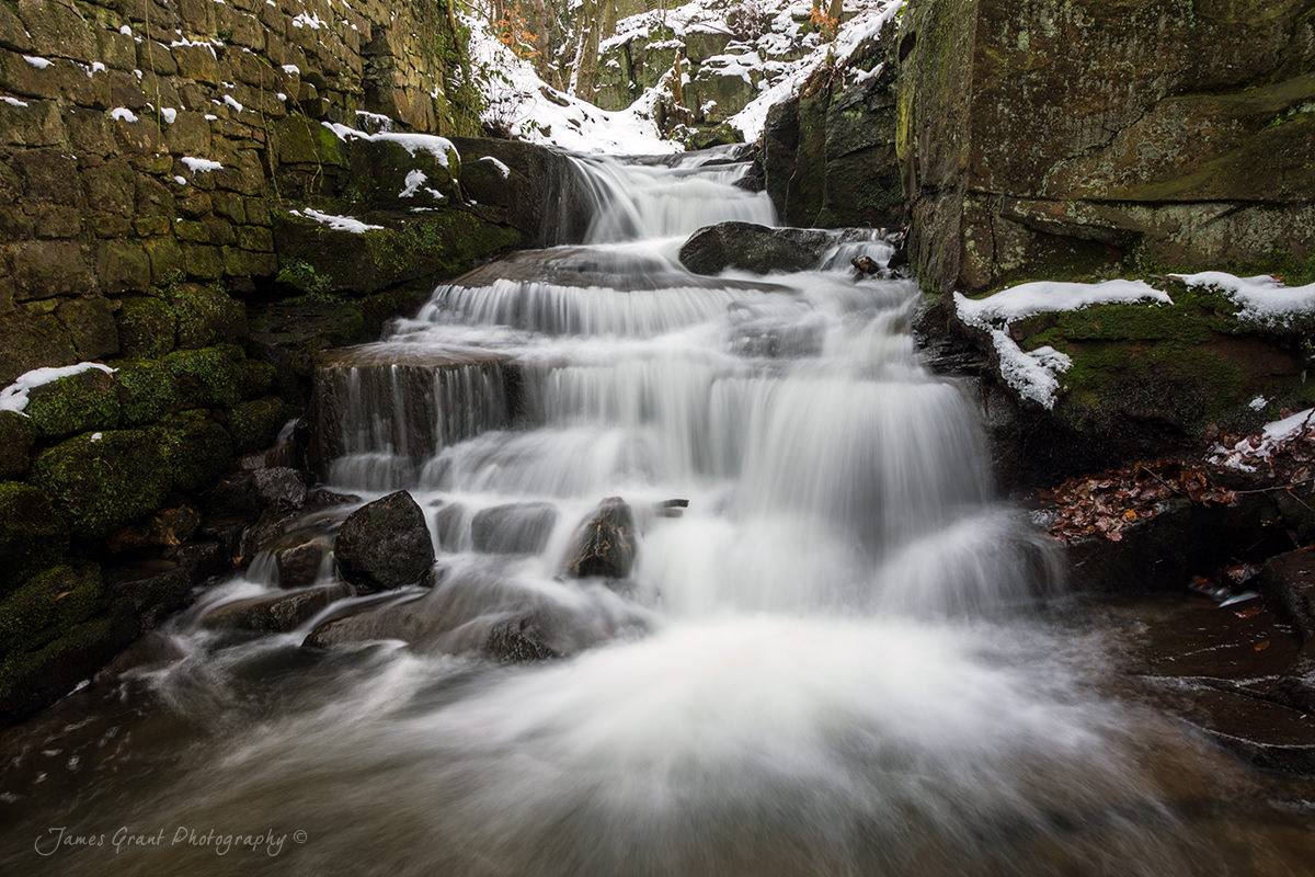 Lumsdale Centre Cascade - Peak District Photography