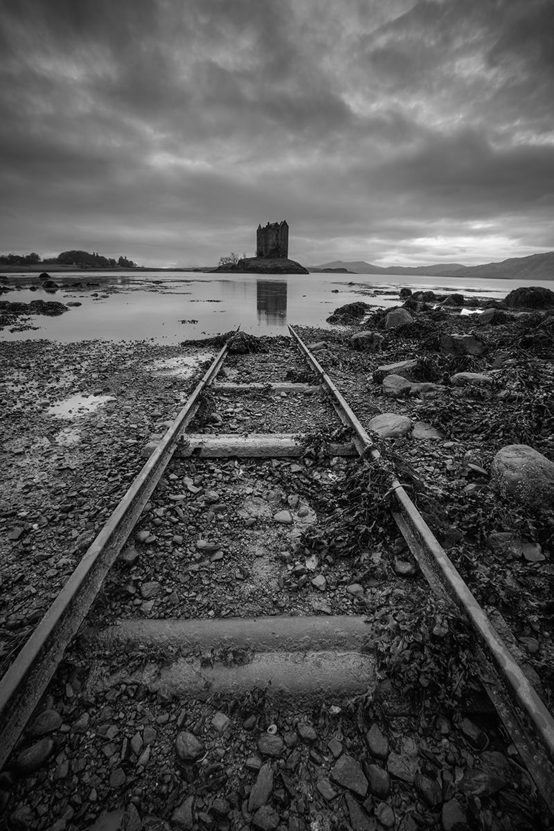 Castle Stalker Black and White - Scotland Photography