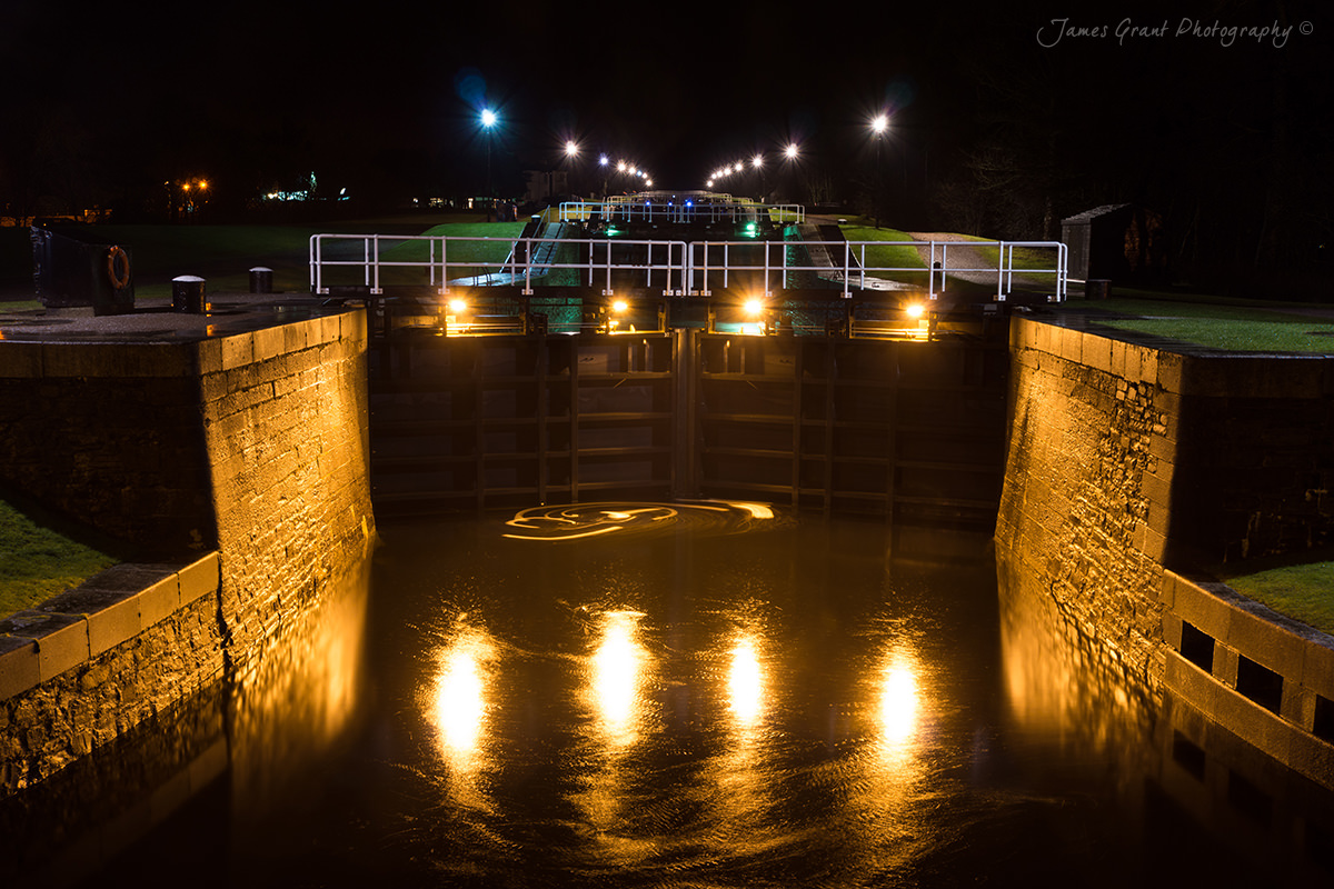 Neptunes Staircase At Night - Scotland Photography