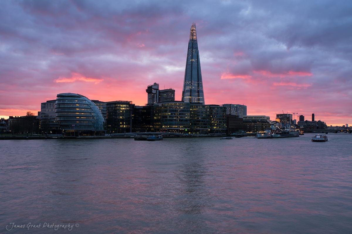 Shard Sunset - London