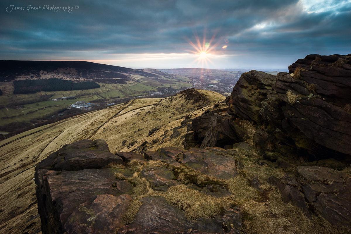 Aldermans Hill Sunset - Peak District Photography