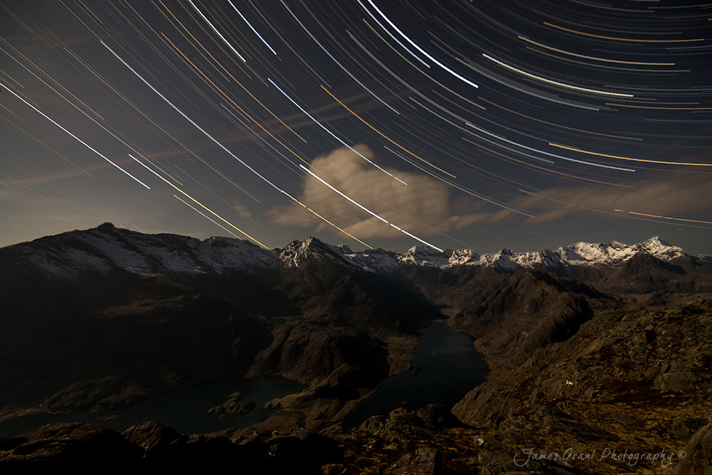 Sgurr Na Stri Star Trails - Isle Of Skye - Scotland Photography