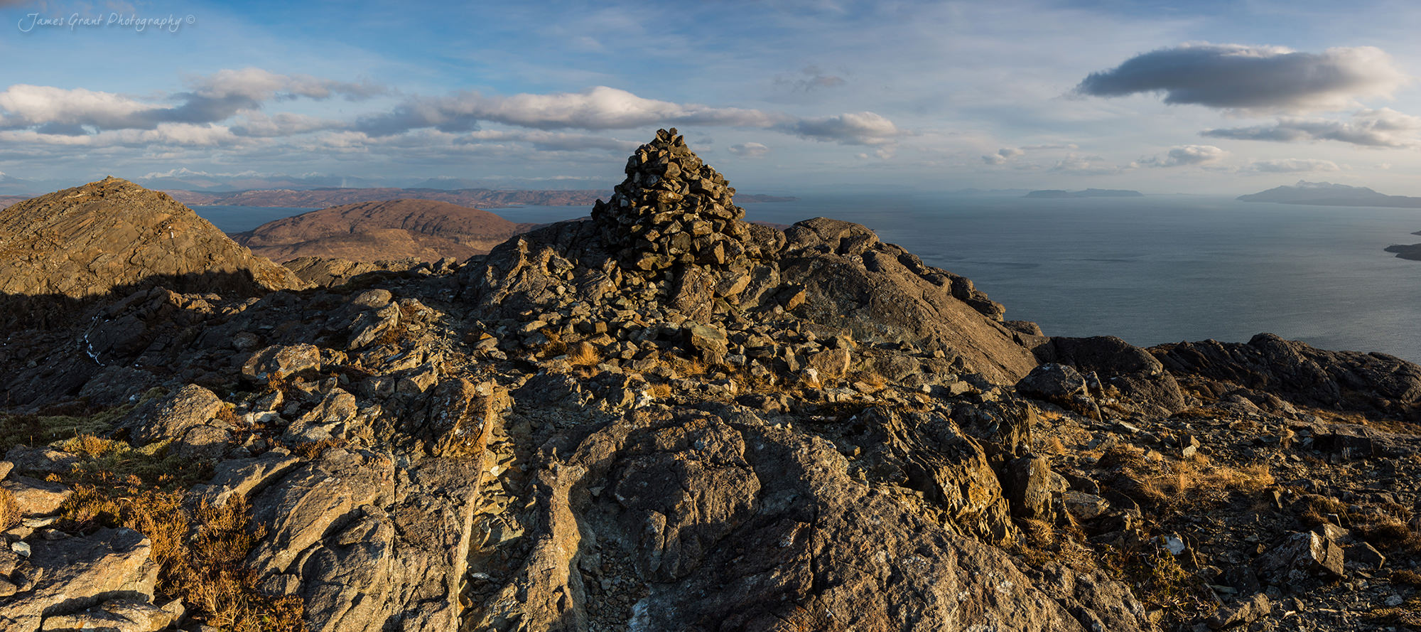 Sgurr Na Stri Summit Panoramic To Elgol - Isle Of Skye - Scotland Photography