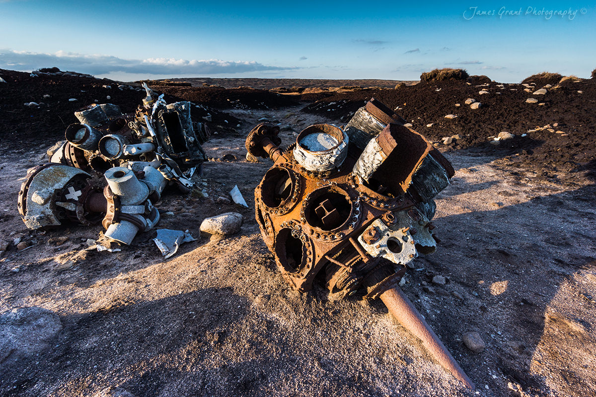 Bleaklow Airplane Crash - Peak District Photography