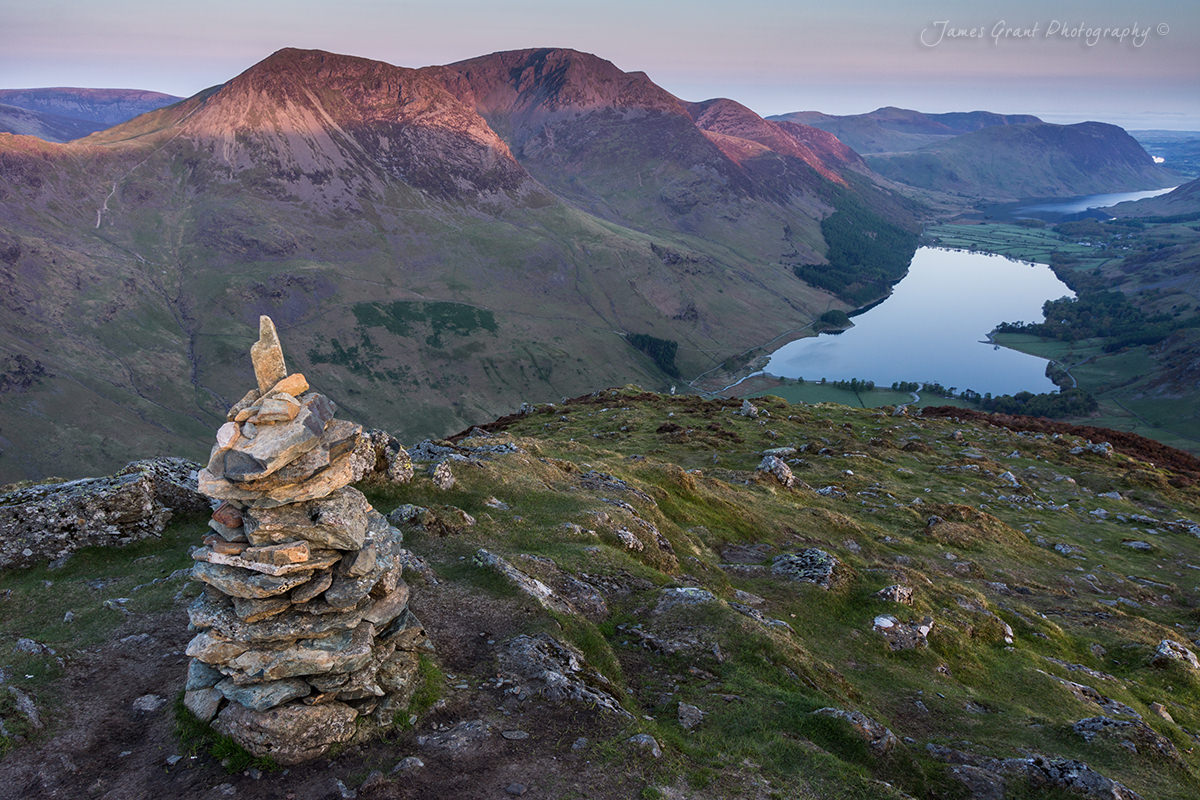 Fleetwith Pike Sunrise - Buttermere - Lake District Wild Camping Photography