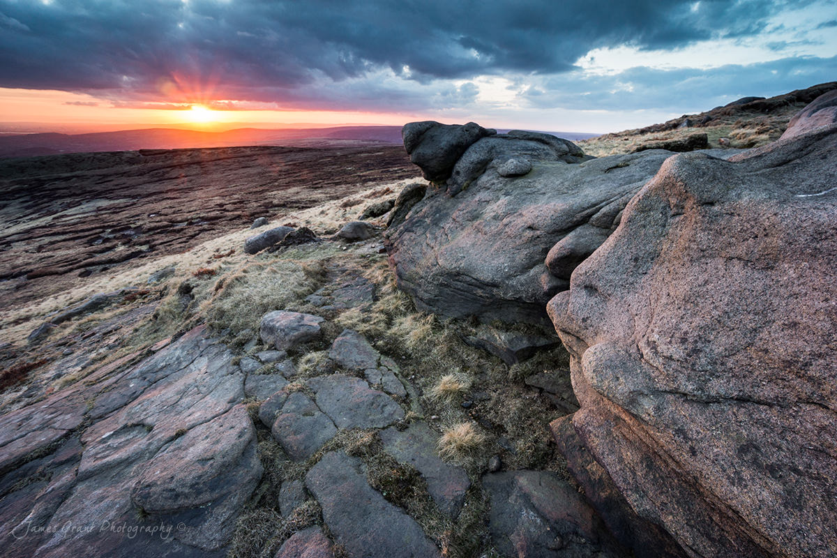 Lower Shelf Stones Sunset - Peak District Photography