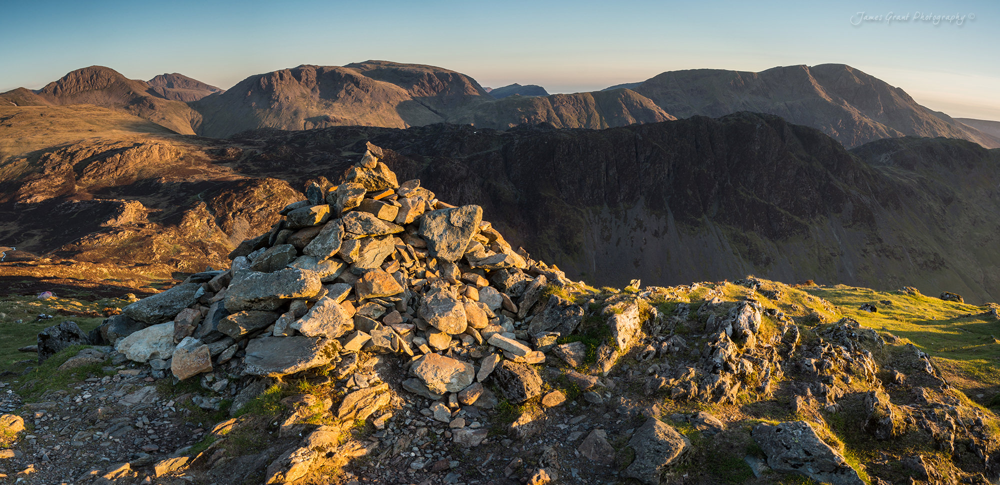 Fleetwith Pike Panoramic - Lake District Wild Camping Photography