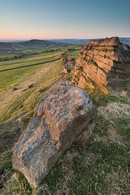 Wingather Rocks Sunset - Kettleshulme - Peak District Photography