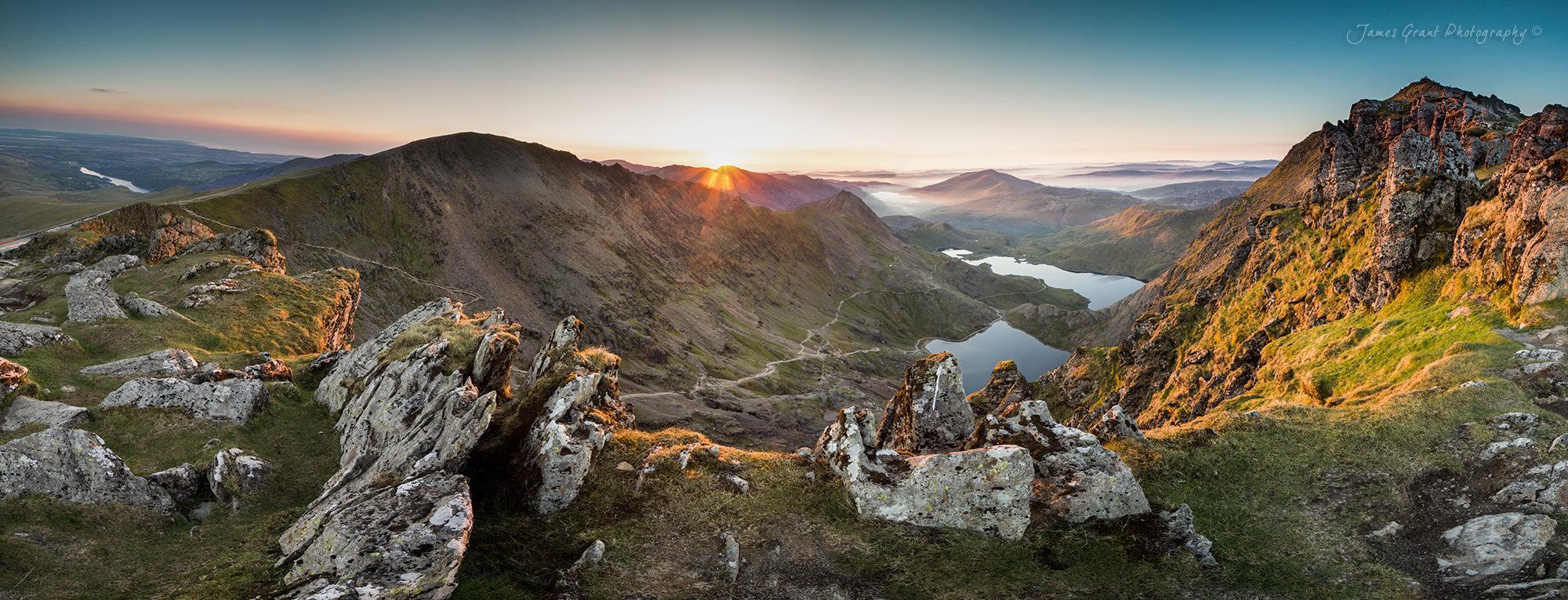 Snowdon Sunrise Panoramic - Snowdonia Photography