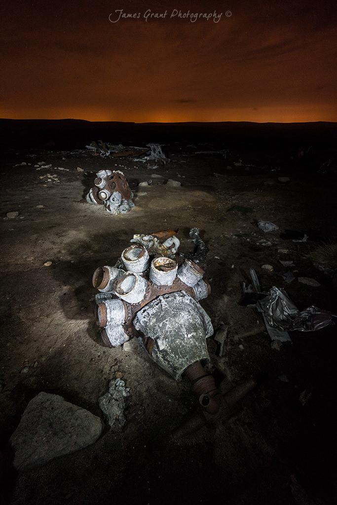 Engines - Bleaklow Superfortress Crash Site - Peak District Photography