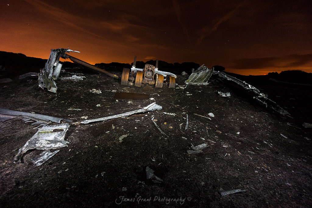 Landing Gear - Bleaklow Superfortress Crash Site - Peak District Photography