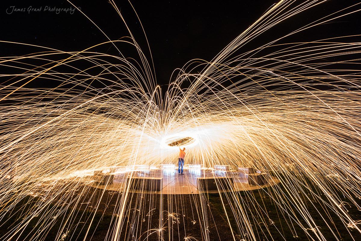 Spinning - Wirksworth Star Disc - Peak District Photography