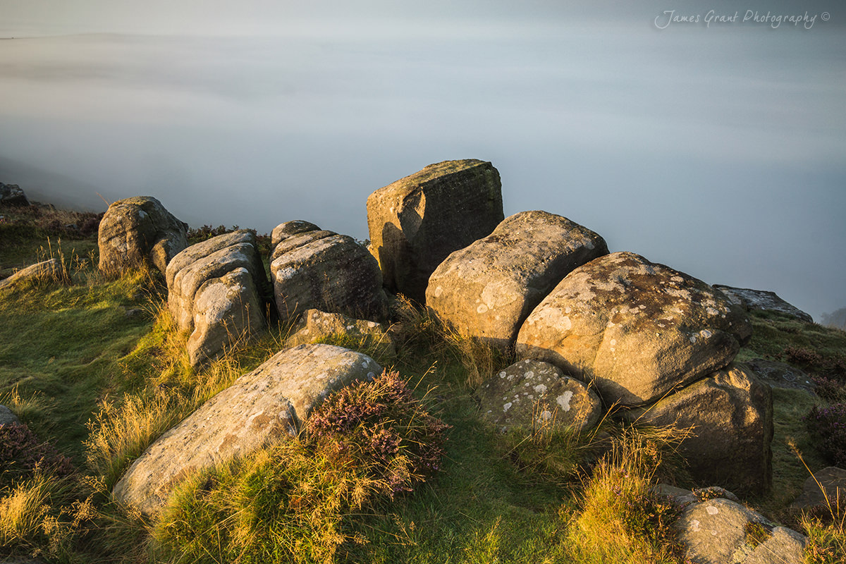 The MISTery - Curbar Edge Sunrise - Peak District Photography