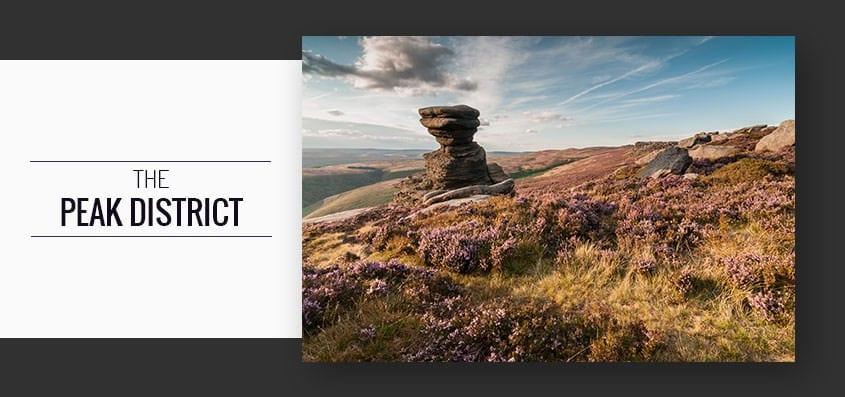 Peak District Heather Including Salt Cellar and Fair Brook Photography Workshop